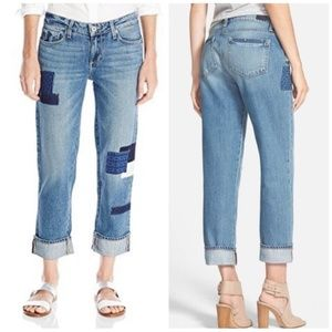 Paige Porter Relaxed Straight Jeans Bethany Patch